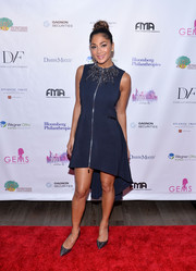 Nicole Scherzinger chose Gianvito Rossi Ellipsis pumps to complete her red carpet attire.