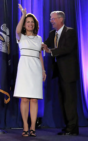 Michele wore a white classic dress for the Republican Leadership Conference.