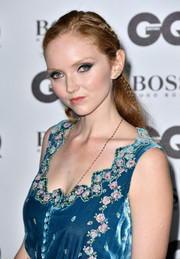 Lily Cole went boho with this partially braided hairstyle at the GQ Men of the Year Awards.