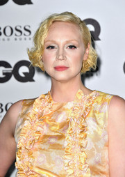 Gwendoline Christie styled her short locks into a curled-out bob for the GQ Men of the Year Awards.