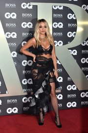 Rita Ora went super sultry in a black sheer-panel bra by Agent Provocateur at the 2019 GQ Men of the Year Awards.