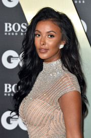 Maya Jama looked gorgeous with her long wavy hairstyle at the 2019 GQ Men of the Year Awards.