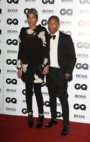 Helen Lasichanh paired a loose, embellished black-and-white blouse with a pair of skinnies for her GQ Men of the Year Awards red carpet look.