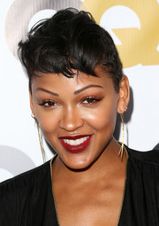 Meagan Good hit the 2013 GQ Men of the Year party wearing her hair in a tousled fauxhawk.