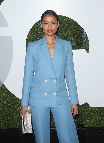 More Pics of Gugu Mbatha-Raw Pumps (1 of 3) - Heels Lookbook - StyleBistro [clothing,suit,pantsuit,outerwear,fashion,formal wear,blazer,jacket,coat,top,arrivals,gugu mbatha-raw,gq men of the year party,california,los angeles,chateau marmont,gq men of the year party]
