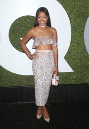Keke Palmer attended the GQ Men of the Year party wearing little more than a band of ruffles across her bust.