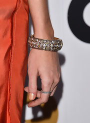 Katie Cassidy's dazzling diamond bracelet gave her evening gown a little glimmer.