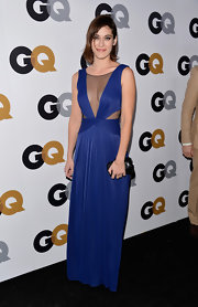 Lizzy looked striking in this royal blue mesh cutout dress at the GQ Men of the Year Party.