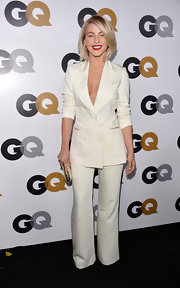 Julianne Hough kept her look classy but sexy with an all-white suit.