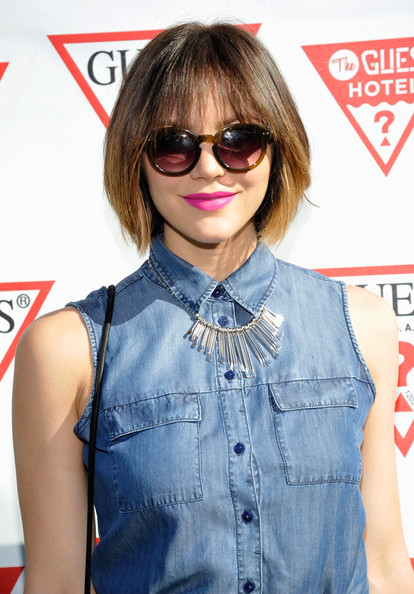More Pics of Katharine McPhee Short Cut With Bangs (1 of 2) - Short Cut With Bangs Lookbook - StyleBistro