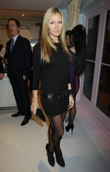 Caprice was snapped at Gabrielle's Angel Foundation for Cancer Research Benefit in London in a chic belted black dress.