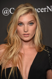 Elsa Hosk was sexily coiffed with flowing side-parted waves during the Angel Ball.