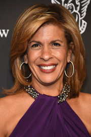 Hoda Kotb styled her hair with high-volume layers for the Angel Ball.
