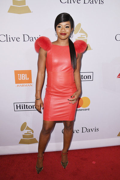 Gabrielle Douglas Leather Dress