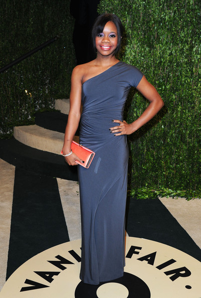 Gabrielle Douglas One Shoulder Dress