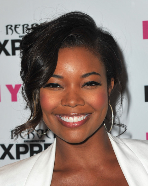 Gabrielle Union Loose Bun