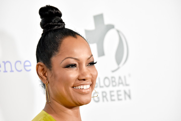 Garcelle Beauvais Hair Knot [hair,face,hairstyle,eyebrow,skin,head,beauty,forehead,nose,chin,garcelle beauvais,los angeles,california,global green pre oscar party,global green pre-oscar gala]