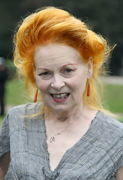 Vivienne Westwood wore her hair in a Gibson girl-like updo at the launch of 'A Garden Party to Make a Difference.'