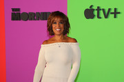 Gayle King Off-the-Shoulder Dress