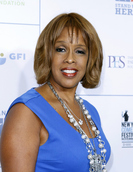 Gayle King Bob [stand up for heroes,stand up for heroes,hair,hairstyle,blond,shoulder,long hair,electric blue,bangs,layered hair,brown hair,bob cut,beacon theatre,new york city,gayle king]