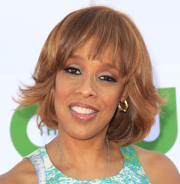 Gayle King Bob [hair,face,hairstyle,blond,eyebrow,chin,bangs,layered hair,lip,forehead,arrivals,gayle king,beverly hills,california,the beverly hilton hotel,cw,cbs,showtime 2012 summer tca,showtime 2012 summer tca party]