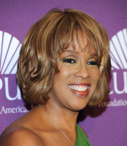 Gayle King Bob [hair,face,hairstyle,blond,chin,eyebrow,bangs,layered hair,hair coloring,brown hair,gayle king,lupus foundations of america butterfly gala,new york city,the pierre hotel]