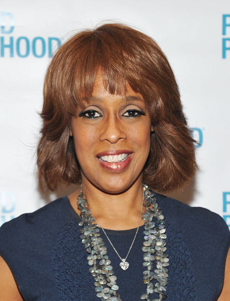 Gayle King Bob [hair,face,hairstyle,eyebrow,chin,layered hair,lip,long hair,hair coloring,blond,gayle king,new york city,the pierre hotel,planned parenthood,spring luncheon]