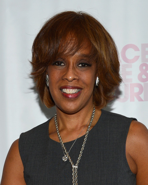 Gayle King Bob [hair,hairstyle,face,chin,layered hair,bob cut,bangs,brown hair,feathered hair,hair coloring,love a cure triple negative breast cancer foundation benefit,peace,coverage,cresskill,new jersey,gayle king]