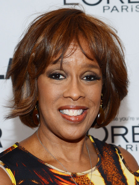 Gayle King Bob [glamour honors the 23rd annual women of the year - arrivals,hair,face,hairstyle,eyebrow,chin,hair coloring,blond,lip,brown hair,layered hair,gayle king,awards,new york city,glamour,women of the year]