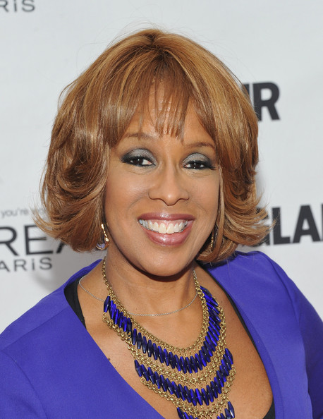 Gayle King Bob [hair,face,hairstyle,blond,eyebrow,chin,hair coloring,shoulder,bangs,electric blue,arrivals,editor-at-large,glamour women of the year awards,gayle king,new york city,carnegie hall,the oprah magazine,annual glamour women of the year awards]