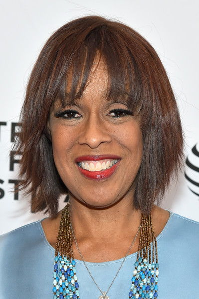 Gayle King Graduated Bob [grace and frankie,hair,face,hairstyle,lip,bob cut,eyebrow,chin,bangs,head,layered hair,gayle king,tribeca tune in,new york city,sva theatre 1,tribeca film festival]