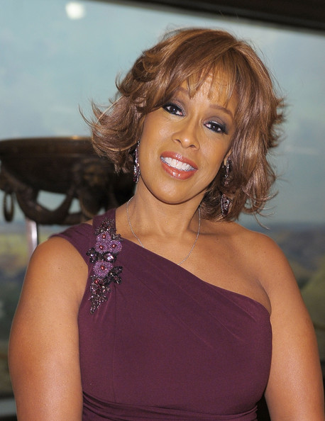 Gayle King Layered Razor Cut [hair,hairstyle,beauty,shoulder,lady,eyebrow,lip,blond,chin,brown hair,gayle king,new york city,american museum of natural history,2010 museum gala]