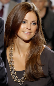 Princess Madeleine let her naturally wavy hair down as she attended the Holocaust Remembrance Event at the U.S Capitol.