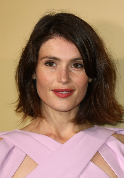 Gemma Arterton Bob [hair,face,hairstyle,eyebrow,chin,beauty,lip,brown hair,long hair,smile,gemma arterton,breakthrough brits,london,england,bafta,breakthrough brits reception,reception]
