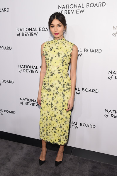 Gemma Chan Embroidered Dress [clothing,dress,fashion model,yellow,cocktail dress,fashion,hairstyle,neck,footwear,fashion design,arrivals,gemma chan,new york city,cipriani 42nd street,national board of review annual awards gala,national board of review annual awards gala]