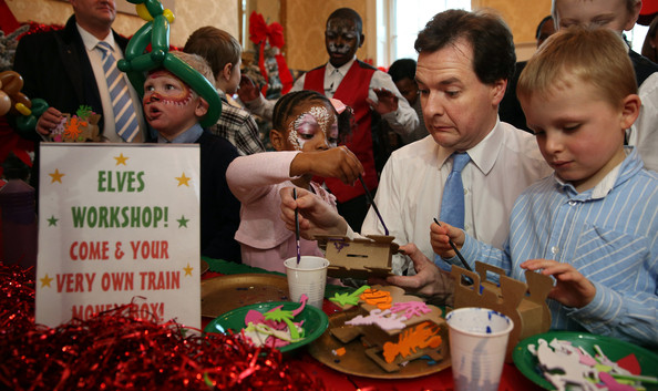 Chancellor George Osborne Hosts Annual Christmas Party For Charity
