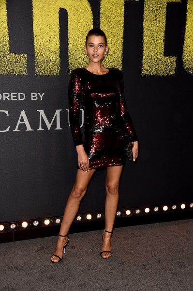 Georgia Fowler Sequin Dress [pitch perfect 3,clothing,dress,fashion,fashion model,cocktail dress,little black dress,lady,leg,shoulder,footwear,arrivals,georgia fowler,california,hollywood,dolby theatre,universal pictures,premiere,premiere]