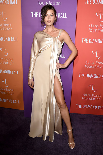 Georgia Fowler Evening Sandals [shoulder,clothing,fashion model,dress,fashion,cocktail dress,beauty,hairstyle,gown,carpet,cipriani wall street,new york city,diamond ball,rihanna,georgia fowler]