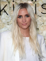 Ashlee Simpson looked striking with her ice-blonde waves at the Gigi C Bikini pop-up launch event.