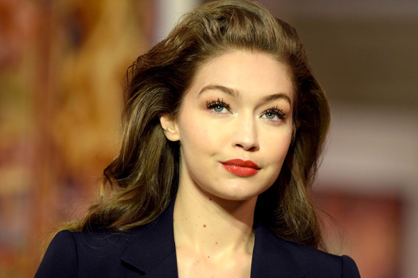 Gigi Hadid Red Lipstick [hair,face,lip,hairstyle,eyebrow,beauty,chin,lady,cheek,fashion,gigi hadid,runway - paris fashion week womenswear fall,part,runway,paris,france,lanvin,show,long hair,hair m,fashion,brown hair,black hair,blond,hair,supermodel,socialite,02pd - circolo del partito democratico di milano]