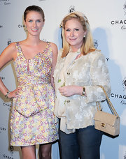 Kathy Hilton carried a chic quilted Chanel purse at the Chagoury Couture debut.