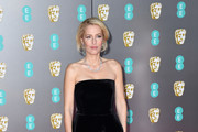 Gillian Anderson Strapless Dress