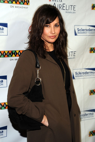 Gina Gershon Suede Hobo [scleroderma research foundation hosts ``cool comedy - hot cuisine 2009,long hair,black hair,television presenter,cool comedy - hot cuisine 2009,gina gershon,new york city,carolines on broadway,scleroderma research foundation]