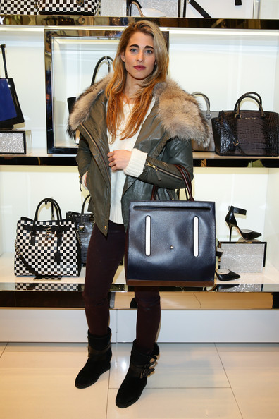 Ginevra Rossini Ligresti Motorcycle Boots [michael kors to celebrate milano - opening,michael kors,ginevra rossini ligresti,clothing,fashion,beauty,shoulder,footwear,leather,blond,joint,outerwear,fashion accessory,milano,italy]
