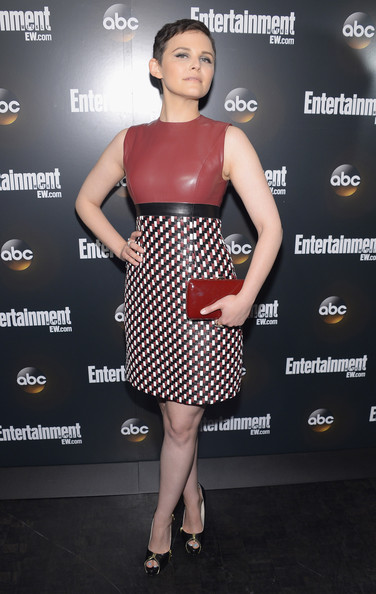 Ginnifer Goodwin Leather Dress