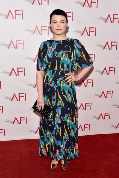 Ginnifer Goodwin Print Dress