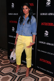 Rachel Roy paired super-sexy pumps with her casual ensemble for a screening of 'Intruders.'