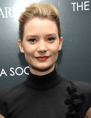 Mia Wasikowska wore a muted berry lipstick with a matte finish at a screening of 'Albert Nobbs.'