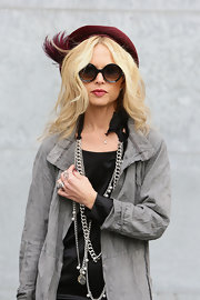 Rachel Zoe rocked these stylish Giorgio Armani sunglasses in Milan.