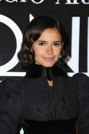 Miroslava Duma looked charming with her curly ends during the Armani Prive fashion show.